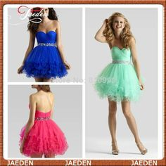 PP212 Pretty Girl Free Shipping Sexy A-line 2014 Mint Blue Formal Party Cocktail Graduation Homecoming Short Mini Prom Dresses $78.90