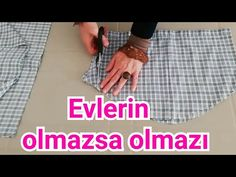 GÖMLEKLE ÇOK İŞİNİZE YARAYACAK FİKİR - YouTube Tissue Engineering, Sewing Hacks, Diy Clothes, Diy Fashion, Make It Simple, Decoupage, Outdoor Blanket, Youtube, Make It Yourself