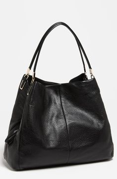 COACH 'Madison - Phoebe' Leather Shoulder Bag ~ I love the compartments and pockets. It keeps me organized!  One of my all-time favorites.