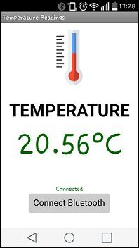 Temperature readings with Arduino and Android App   Random