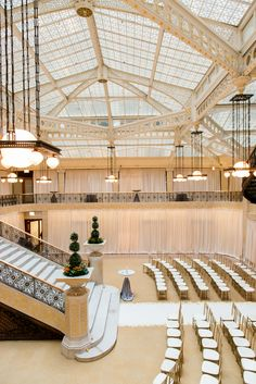 Chicago Glamour at the Rookery Building - http://www.stylemepretty.com/2014/10/15/chicago-glamour-at-the-rookery-building/