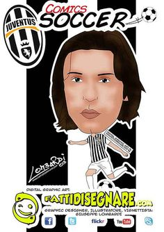 #Andrea #pirlo #juventus #calcio #fattidisegnare  www.fattidisegnare.com