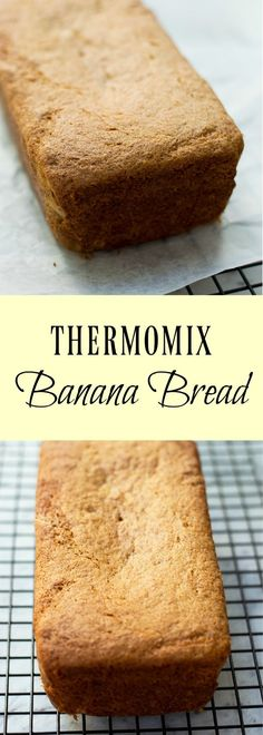 What better way to use up over ripe bananas than with this Thermomix Banana Bread.  Moist and squishy it tastes delicious toast and with lashings of butter. via @thermomixdiva