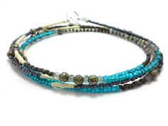 Hey, I found this really awesome Etsy listing at https://www.etsy.com/listing/203303959/wrap-beaded-bracelet-multi-strand-seed