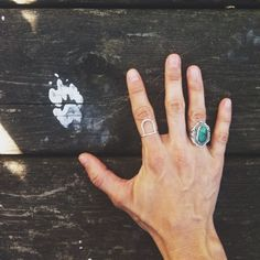 Turquoise and silver ring--Grand Canyon