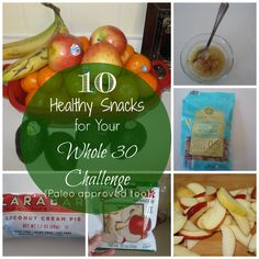 10 quick and easy healthy snacks for your Whole 30 challenge or any healthy eating plan. These are delicious, fulfilling, and paleo approved.