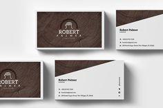 Carpenter Business Card Template by Radomir on @creativemarket