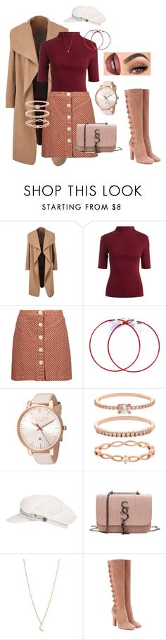 """Untitled #908"" by lilachswan ❤ liked on Polyvore featuring Maje, Ted Baker, Accessorize, Brixton and Gianvito Rossi"
