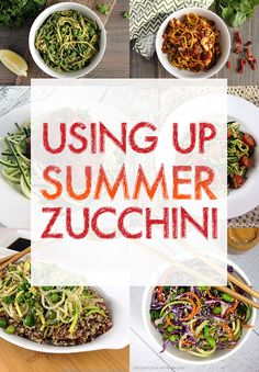 Using Up Summer Zucchini