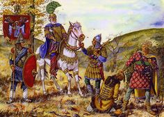 The Roman army, lead by Emperor Basil II, traps the Bulgarians in the Kleidon Pass, 1014