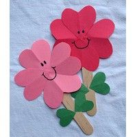 Valentine Heart Flowers Great classroom activity for Valentine's day