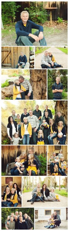Love these casual poses with a large group. Like how the color yellow pops too.
