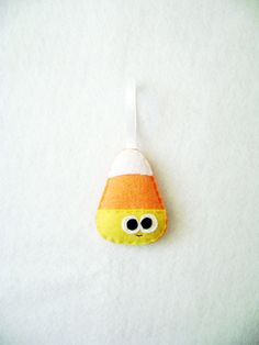 Felt Halloween Ornament  Casey the Candy Corn by RedMarionette, $9.50