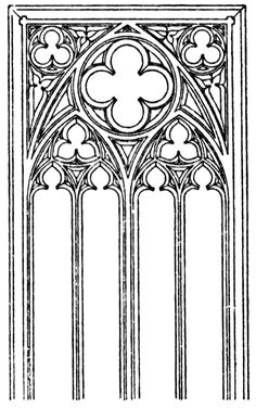 Gothic Tracery Patterns | Gothic tracery | ClipArt ETC