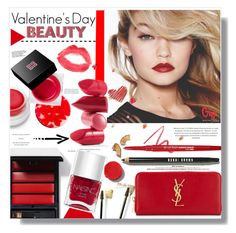 """Valentine's Day Beauty"" by chocolate-addicted-angel ❤ liked on Polyvore featuring beauty, Maybelline, Yves Saint Laurent, Bobbi Brown Cosmetics, Serge Lutens, Nails Inc., rms beauty, Givenchy, By Terry and Smashbox"