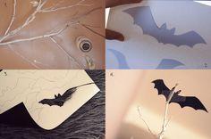 spooky halloween party bats bush