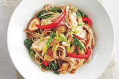 Chicken and Vegetable Soba Noodle Stir-Fry