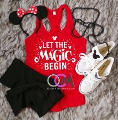 Let The Magic Begin Disney Tank, Family Disney Shirts, Ladies Disney Tank, Women's Disney Shirt - Racerback 19.99