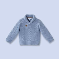 Shawl collar wool sweater  for baby, boy