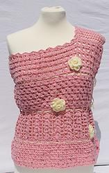 "Top ""Summer Dream"" in rosé by Stilista Karlotta  handgefertigt fashion handcrafted handgearbeitet Mode"