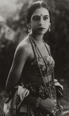 Indian silent film actress Seeta Devi 1925