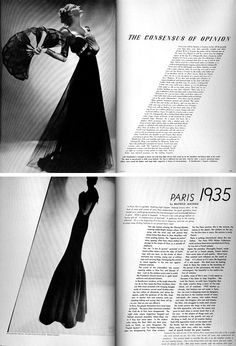 Article in Harper's Bazaar, photographs by Man Ray 1935. Directed by Alexey Brodovitch.