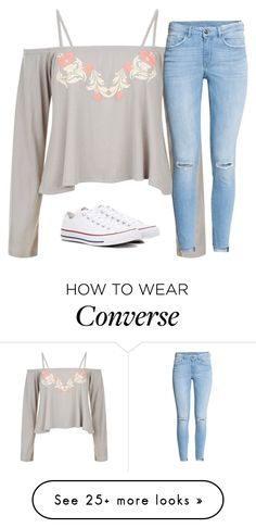 Polyvore featuring H&M and Converse