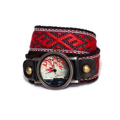 Hand watch with hand-woven strap photo watch folk by Artterrace