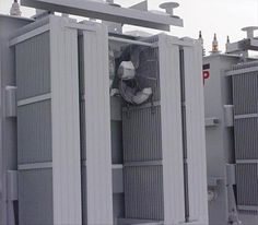 ONAF cooling provide by fans used to increase cooling using natural oil convection. (side mount)
