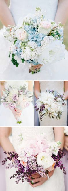 Prettiest Wedding Bouquet Trends of 2015 - Modern Luxe with a touch of cool color tone