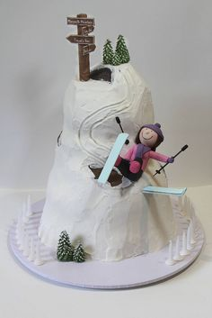 Skiing cake by Creative Cakes by Julie, via Flickr
