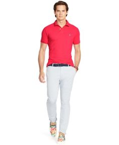Polo Ralph Lauren Custom-Fit Mesh Polo Shirt - Polos - Men - Macy\u0026#39;s