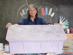 How to create random patterns using Chalk Paint