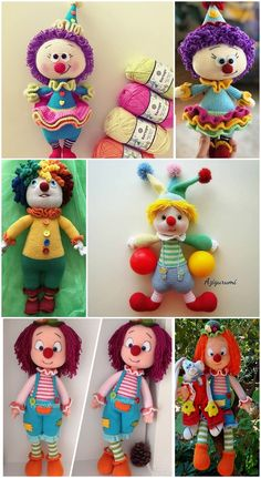 Amigurumi Crochet Clown Palyaço Free Pattern Yapılışı for boys Octopus Crochet Pattern, Crochet Amigurumi Free Patterns, Crochet Dolls, Free Crochet, Crochet Hats, Amigurumi Doll, Crochet Animals, Pattern Making, Knitted Hats