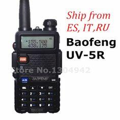 Baofeng uv-5r walkie talkie siyah cb iki yönlü telsiz vhf/uhf 136-174 & 400-520 mhz çift bant amatör el taşınabilir radyo
