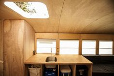 """For his Master of Architecture Final Project, Hank Butitta uses reclaimed materials to convert an old school bus into the """"ultimate road trip vehicle."""""""