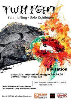 Twilight. Yan JiaNing, solo exhibition, Dal 3 al 24 maggio 2016, Milan Art & Events Center ospita nella propria sede la mostra «Twilight», personale di Yan JiaNing, giovane talento cin...