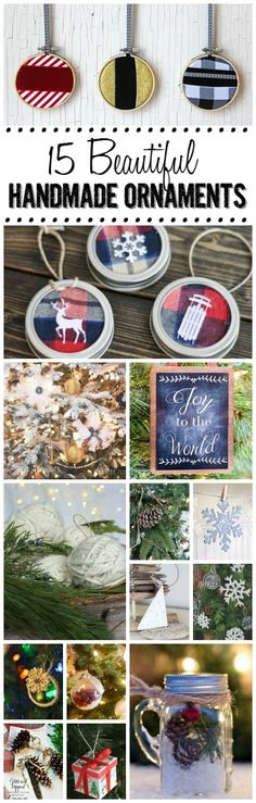 Beautiful collection of simple handmade ornaments to trim your tree!