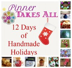 50 dollar prize package for launch of 12 Days of Handmade Holidays ebook by Pinner Takes All. 25 dollar gift card to Hobby Lobby & 25 dollar same as cash to get you started on handmade holidays. Giveaway ends 11/13/12.
