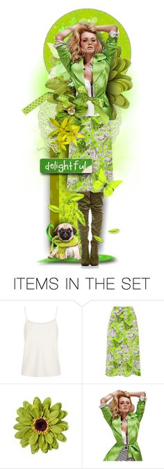 """""""""""Shades of Green with Lime"""" - Winner's Set"""" by tracireuer ❤ liked on Polyvore featuring art"""
