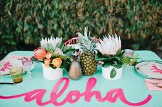 decoration-fête-exotique-mademoiselle-claudine-aloha-centre-de-table