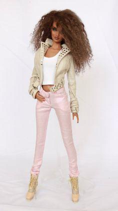 Pale Pink Linen Jeans