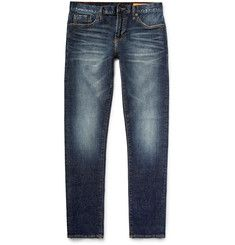 Jean Shop - Jim Skinny-Fit Washed Selvedge Stretch-Denim Jeans