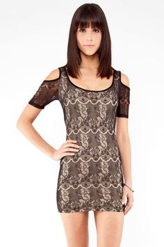 Frenchie Lace Dress in Black $22 at www.tobi.com