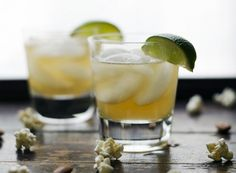 The Irish Mule: whiskey, lime juice, ginger ale | Rosewater & Thyme