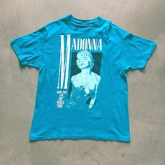 """87' Madonna """"Who's That Girl"""" World Tour T-Shirt $85+$8(shipping) domestic. Size Large (29""""x21""""). Contact the shop at 415-796-2398 to purchase by phone or PayPal afterlifeboutique@gmail and reference item in post."""