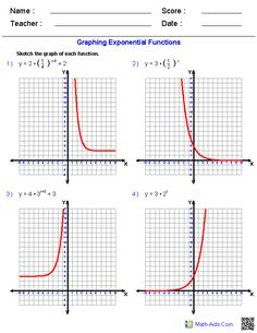 graphing exponential functions worksheets - Graphing Functions Worksheet