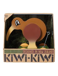 Dick Frizzell KiWi KiWi - Designed by legendary Artist Dick Frizzell, this wooden pull-along is fun to play with and has loads of character. Store Icon, Living In New Zealand, Three Year Olds, Kiwi, Christening, Over The Years, Wooden Toys