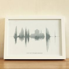 sound wave print for living room collage - voices and phrases from loved ones each in a different color