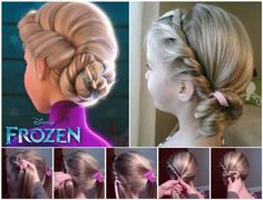 Disney Elsa Frozen Coronation Hairstyle! Really cute hairstyle for your little girl! Just like Queen Elsa! Great for school or any special occasions! #elsahairstyle #cutegirlhairstyle #schoolhairstyle